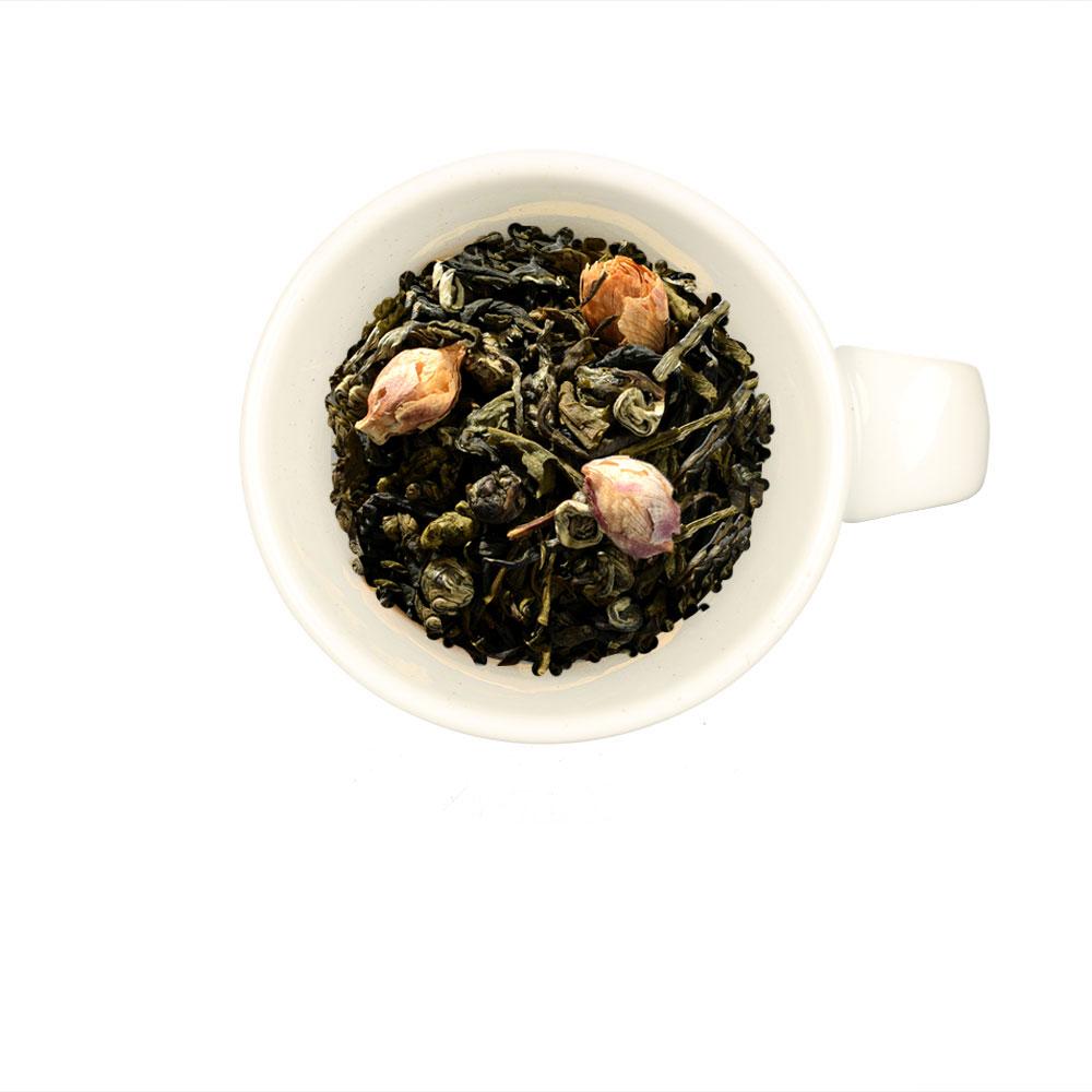 Buddha´s kleines Geheimnis - Weißer Tee mit Jasmin Pearls und Hibiskusknospen