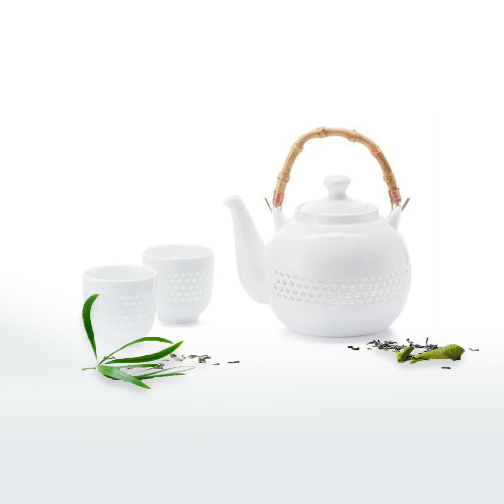 Das Tee-Set Guang, Porzellan in Weiß mit eleganter Erscheinung