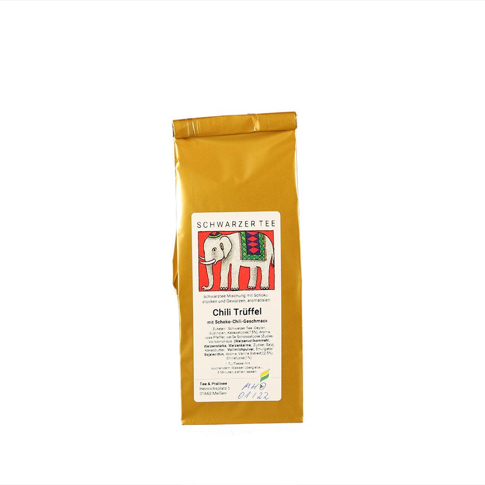 Schwarzer Tee - Chili Trüffel