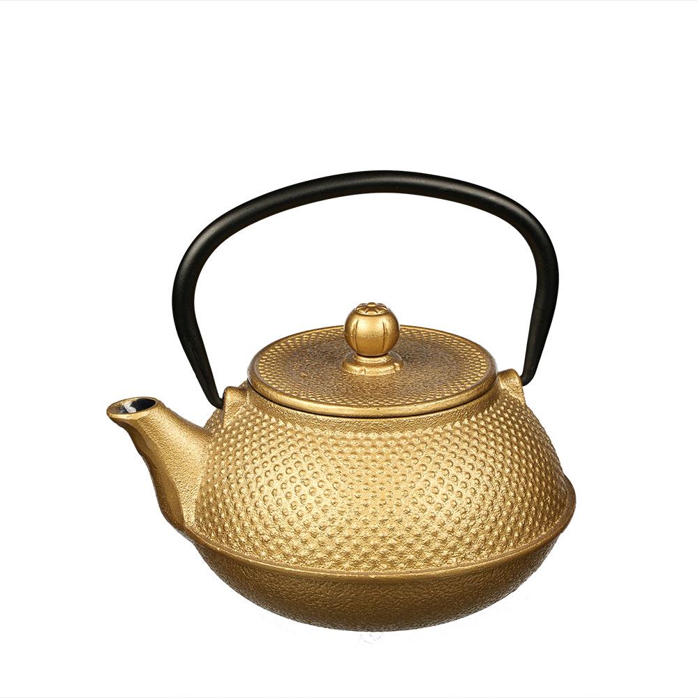 Teekanne Shantou aus Gusseisen mit Edelstahlsieb