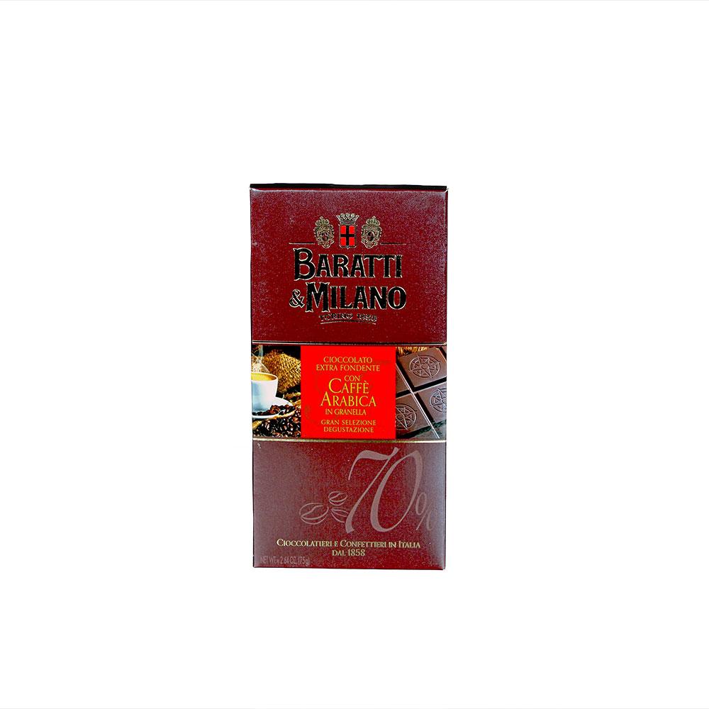 Baratti & Milano dunkle Schokolade Caffè Arabica 70%