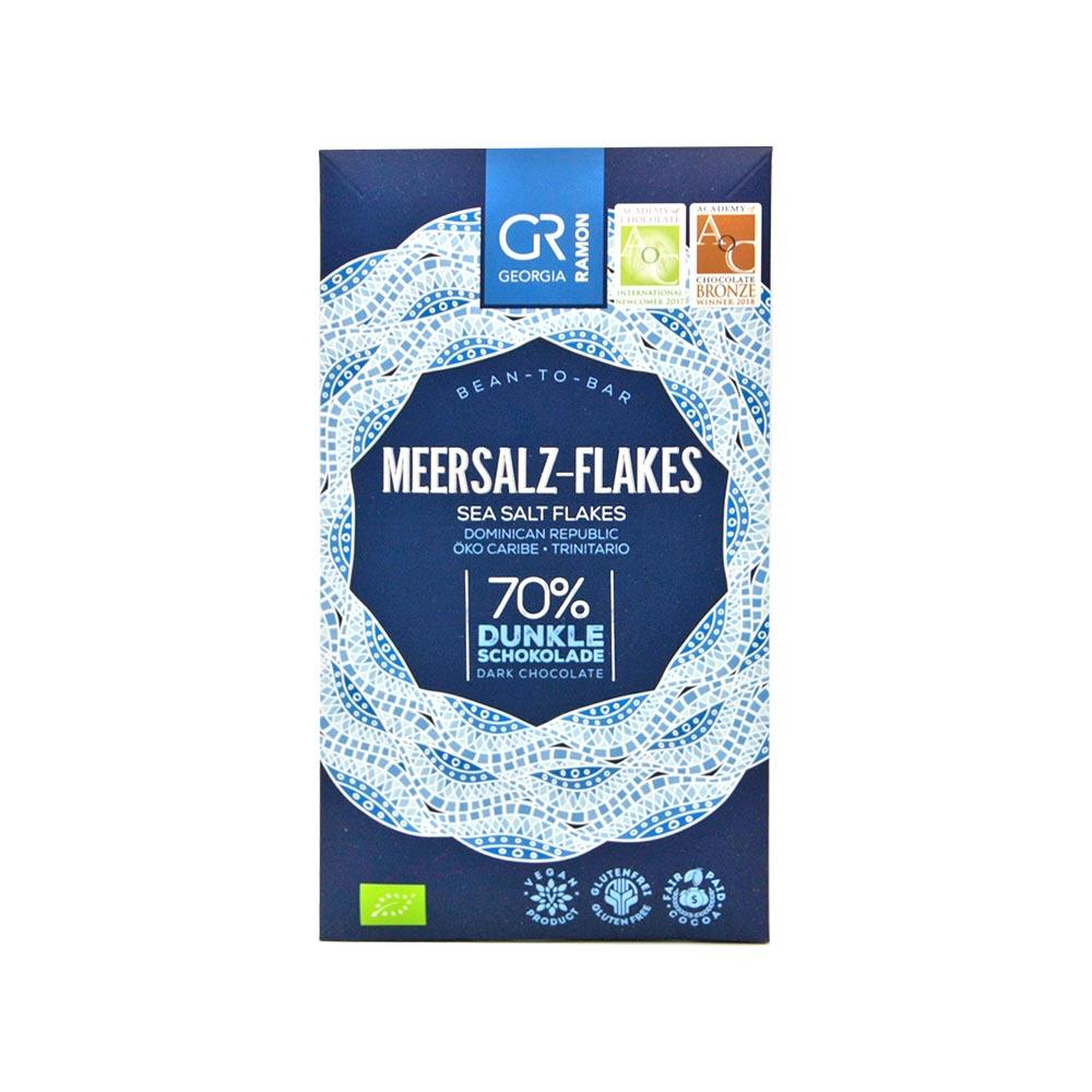 Georgia Ramon - Dunkle Schokolade mit Meersalz-Flakes