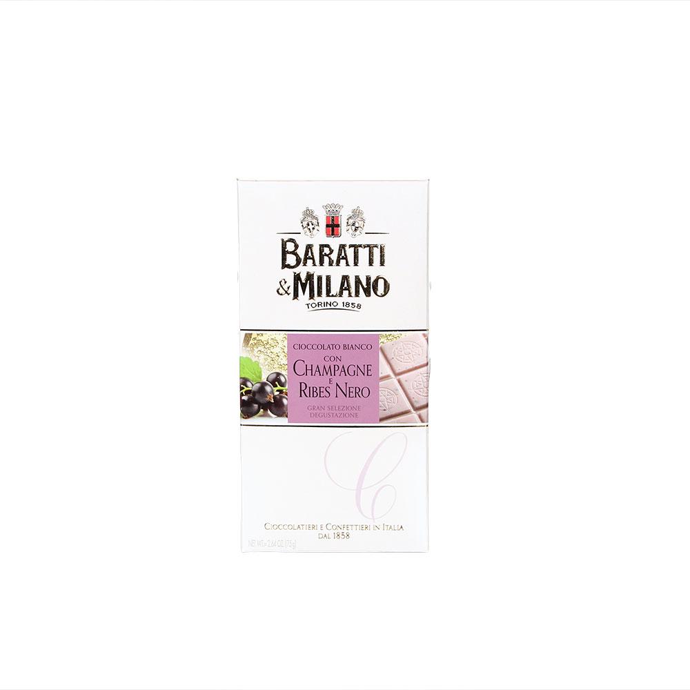 Baratti & Milano weiße Schokolade Champagne Ribes Nero