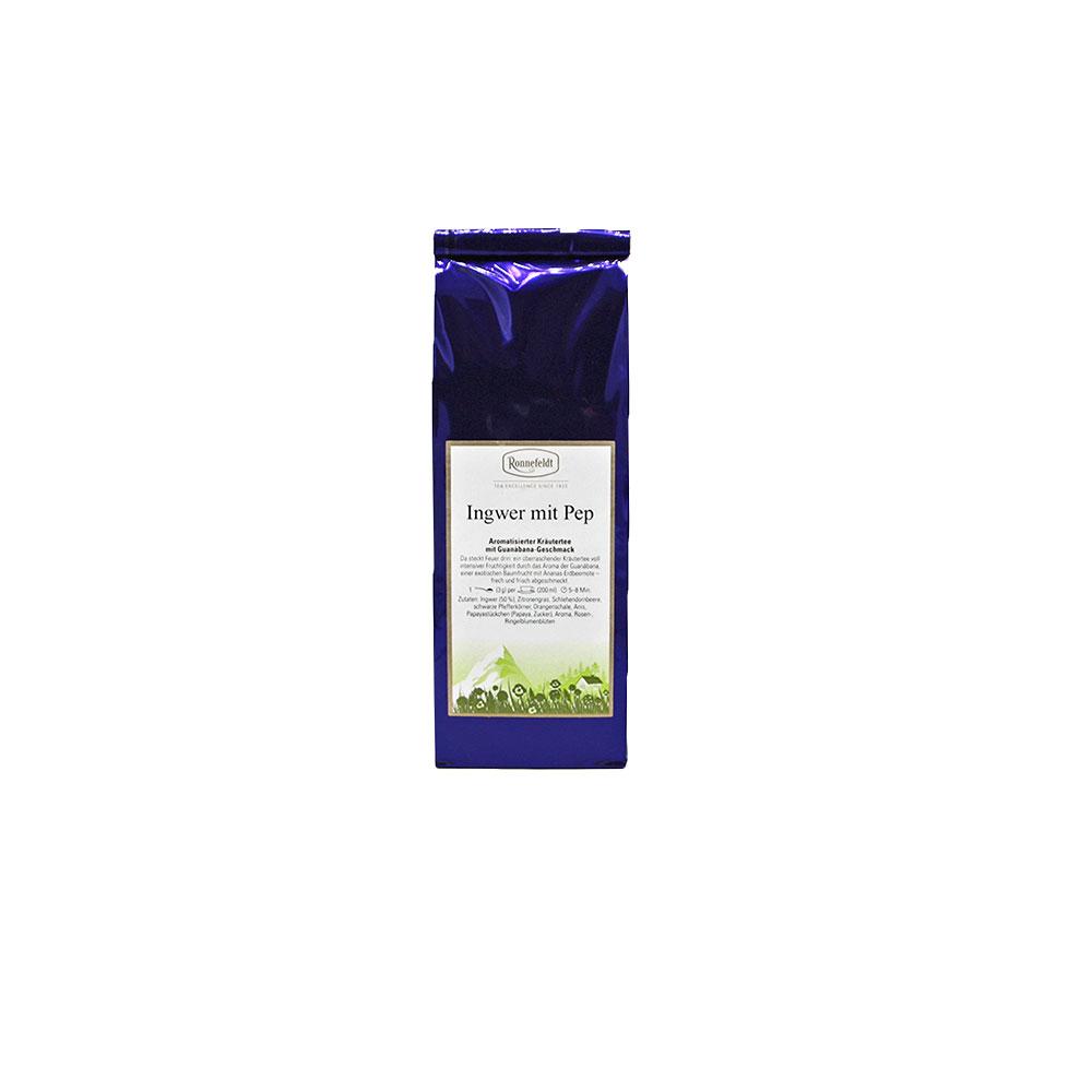 Ingwer mit Pep, Kräutertee aromatisiert