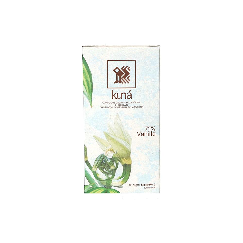 Kuná Vanilla, 71% - Dunkle Schokolade mit Vanille