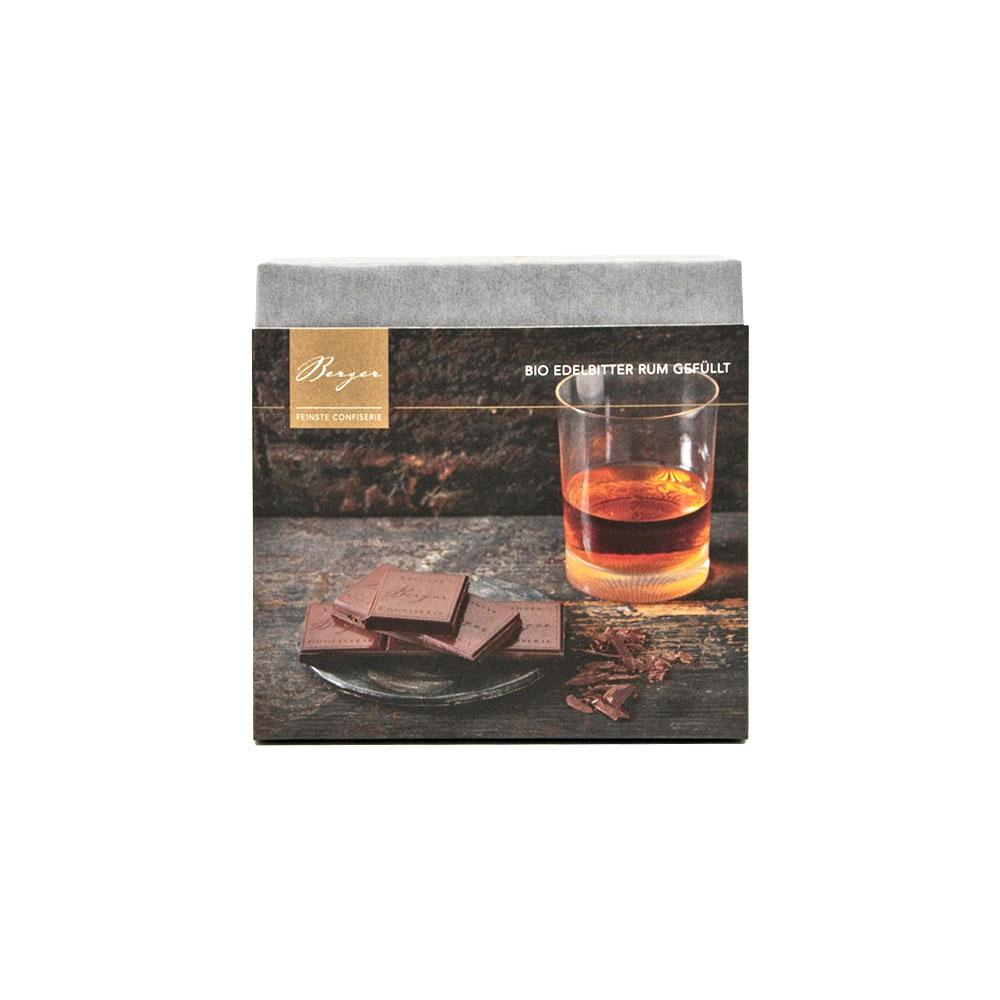 Edelbitter Schokolade mit Rum gefüllt, 100 g