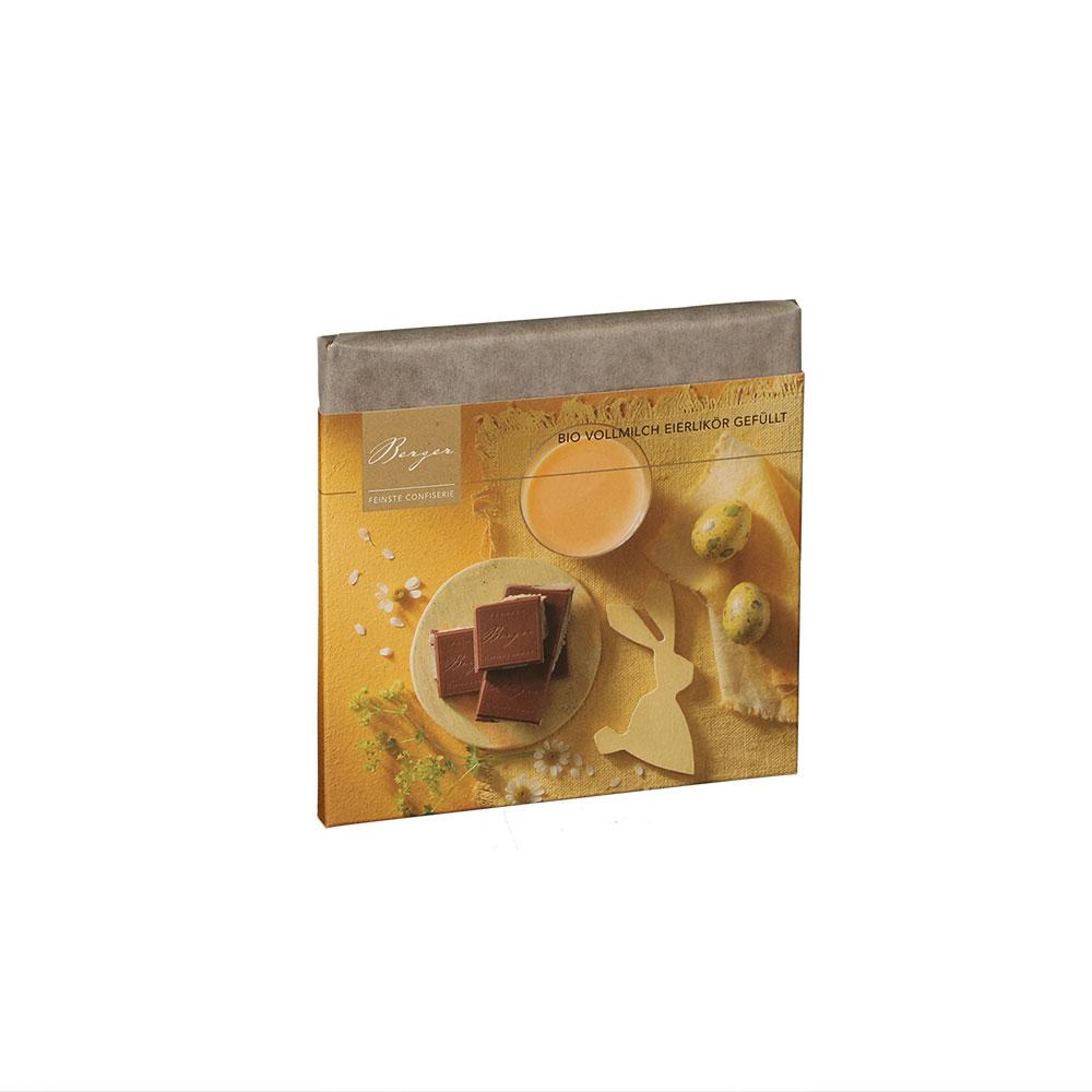 BIO Schokoladentafel Vollmilch mit Eierlikör gefüllt, 100 g