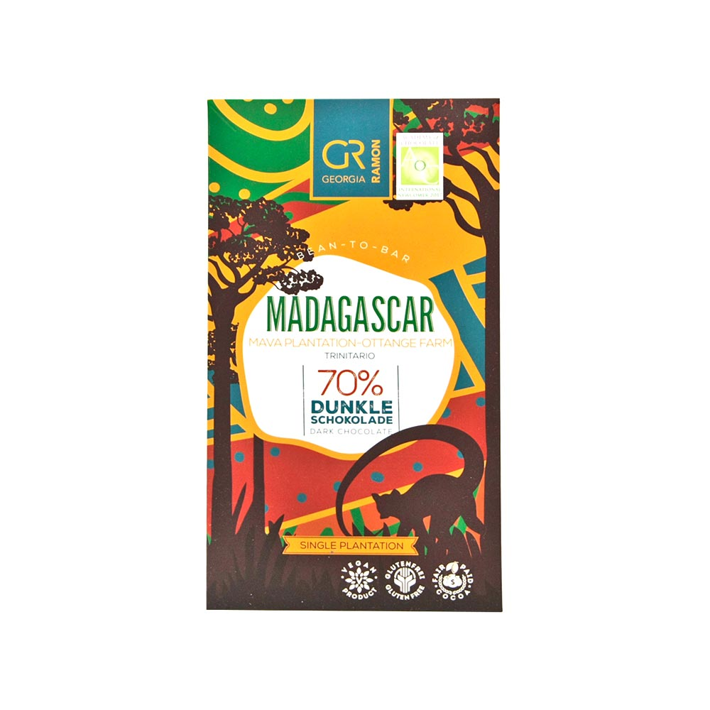 Georgia Ramon - Aromatische Dunkle Schokolade aus Madagaskar, 70%