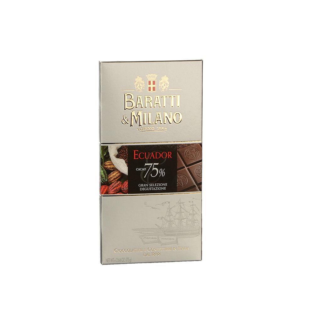 Baratti & Milano Extra Dunkle Schokolade 75%