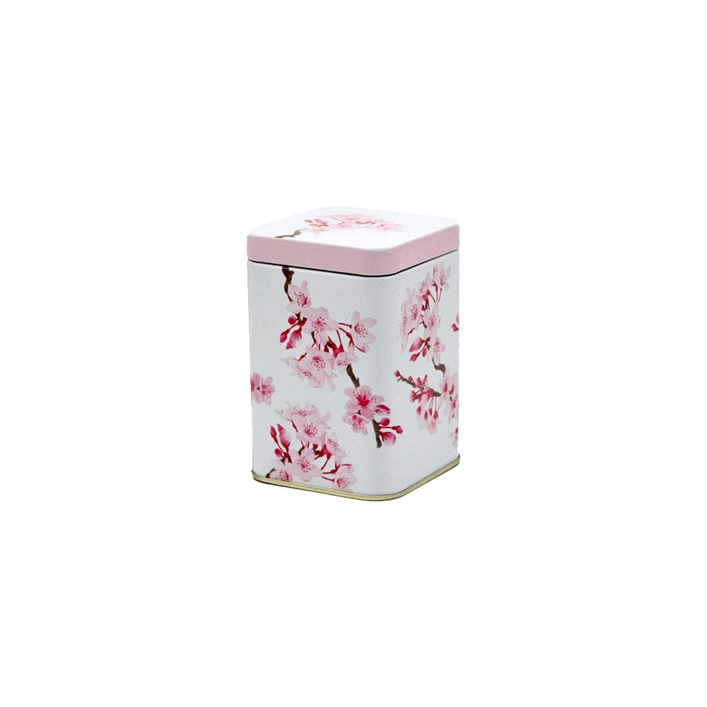 Teedose Cherry Blossom, eckig, 100 g