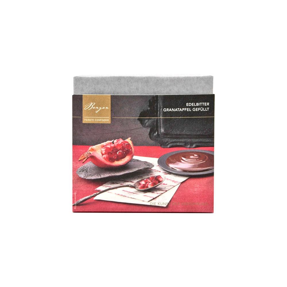 Dunkle Schokolade mit feiner Granatapfelfüllung, 100 g
