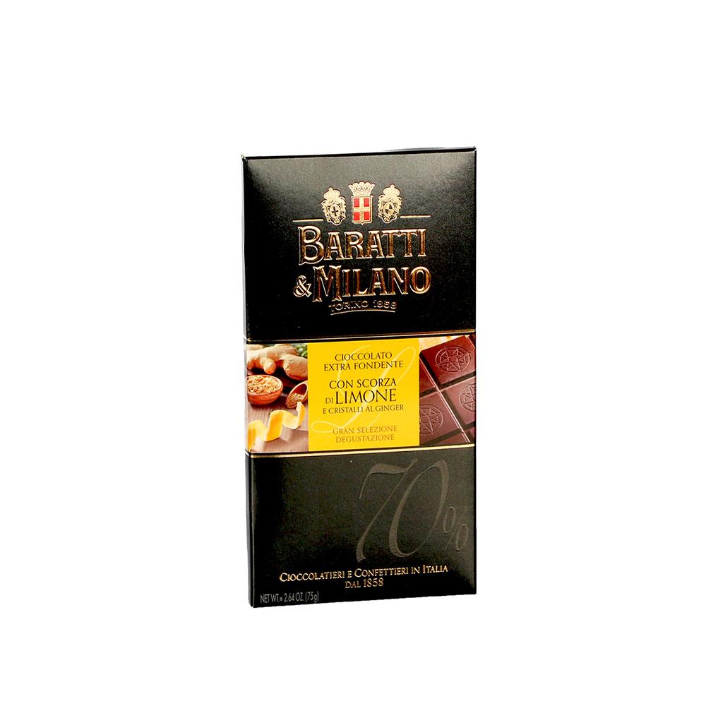 Baratti & Milano Schokolade Limone Ginger 70%