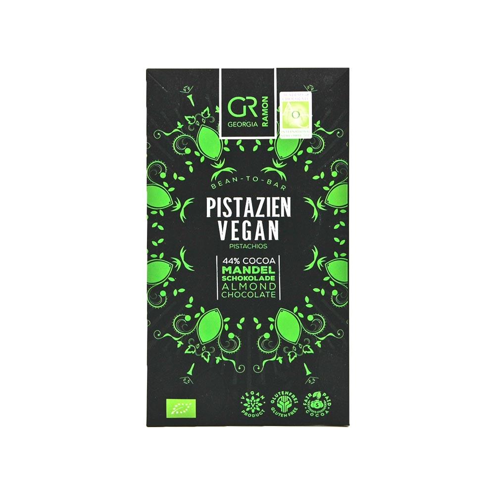 Georgia Ramon - Mandelmilchschokolade mit Pistazien Vegan, 44%