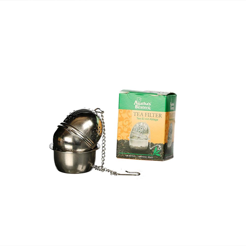 Klassisches Tee-Ei mit Ablage
