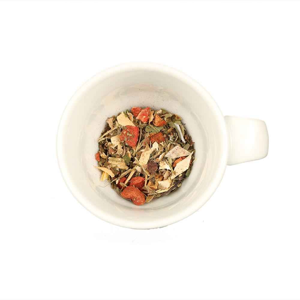Aromatisierter Kräutertee Erdbeer-Minze