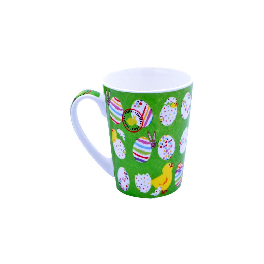 Teetasse mit Deckel und Osterdekor