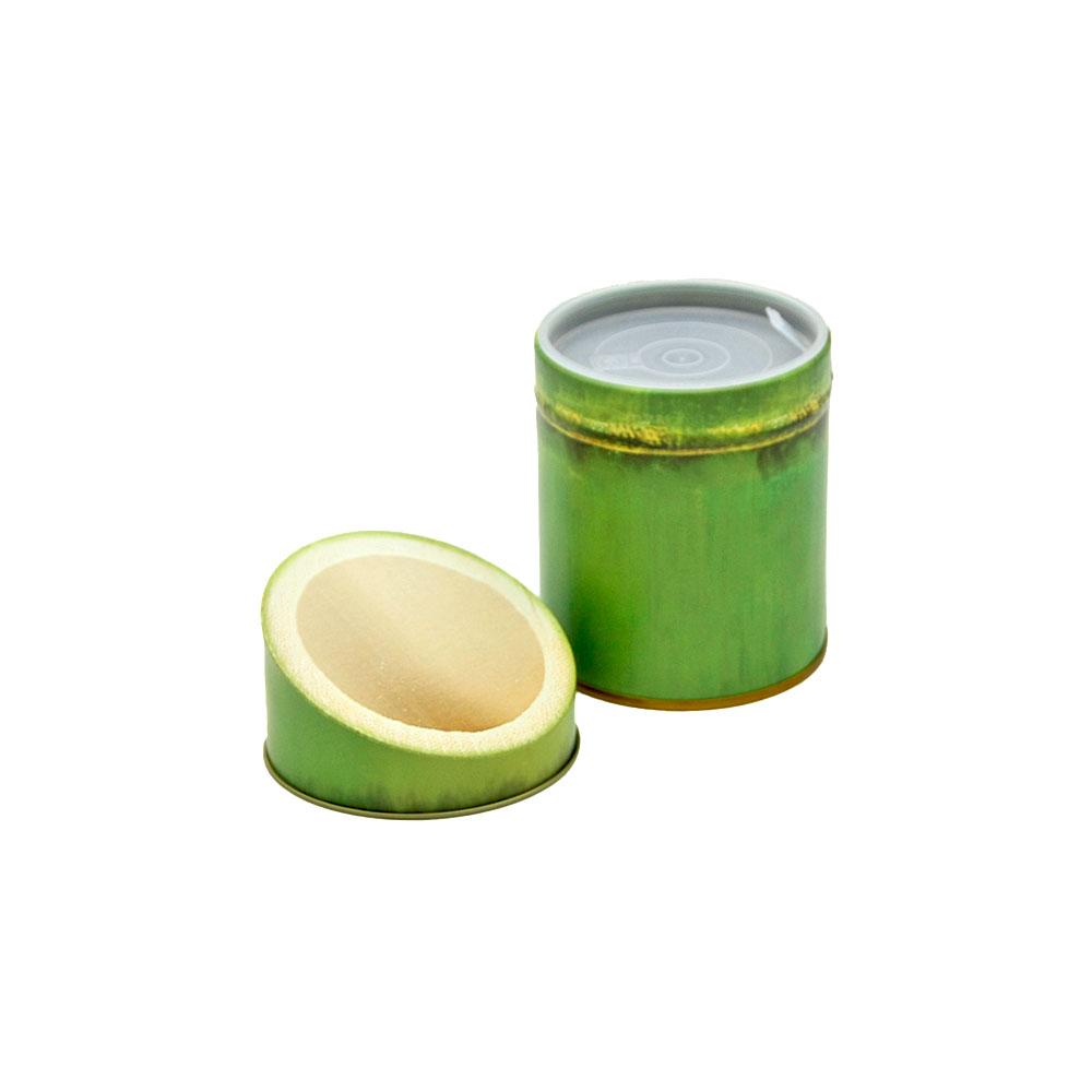 Teedose Bambus rund mit fluoreszierendem Deckel, 150 g