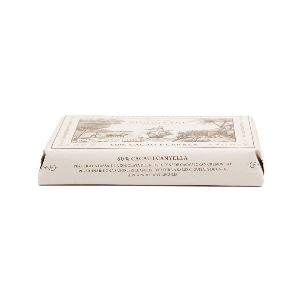 Simon Coll – Tafel Trinkschokolade 60% mit Zimt, 200g