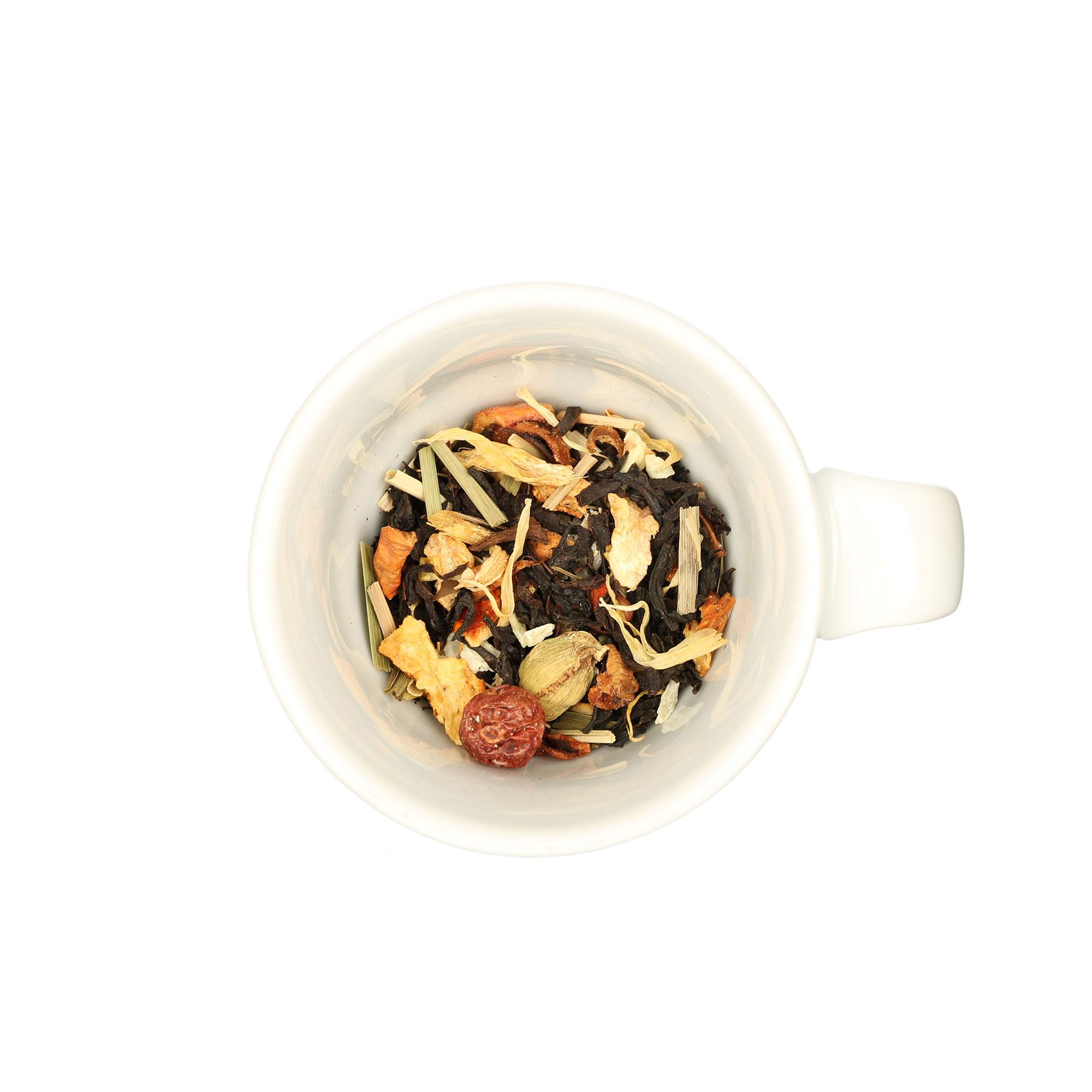 Aromatisierter schwarzer Tee mit Ananas-Lemon-Geschmack