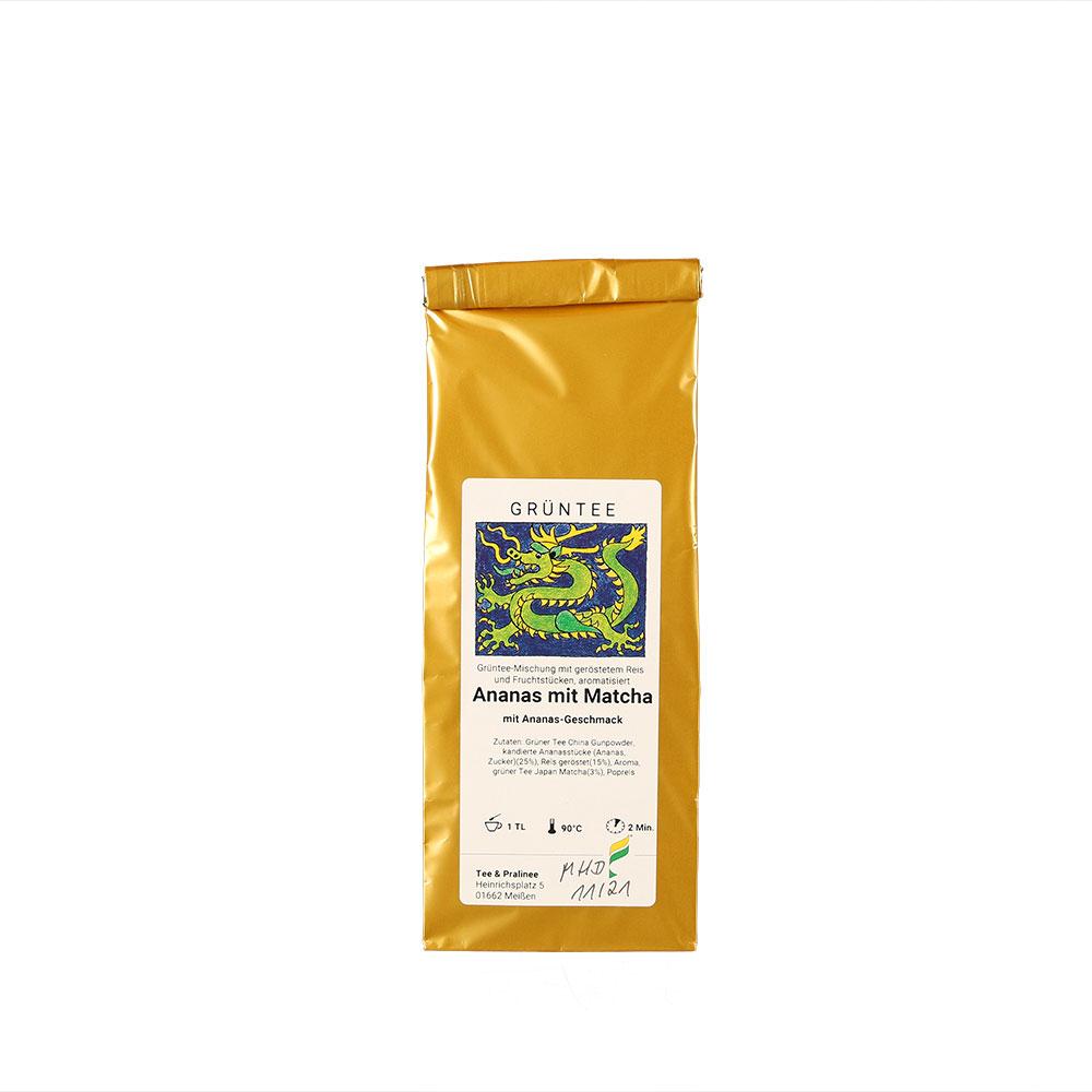 Grüner Tee aromatisiert mit Ananas und Matcha