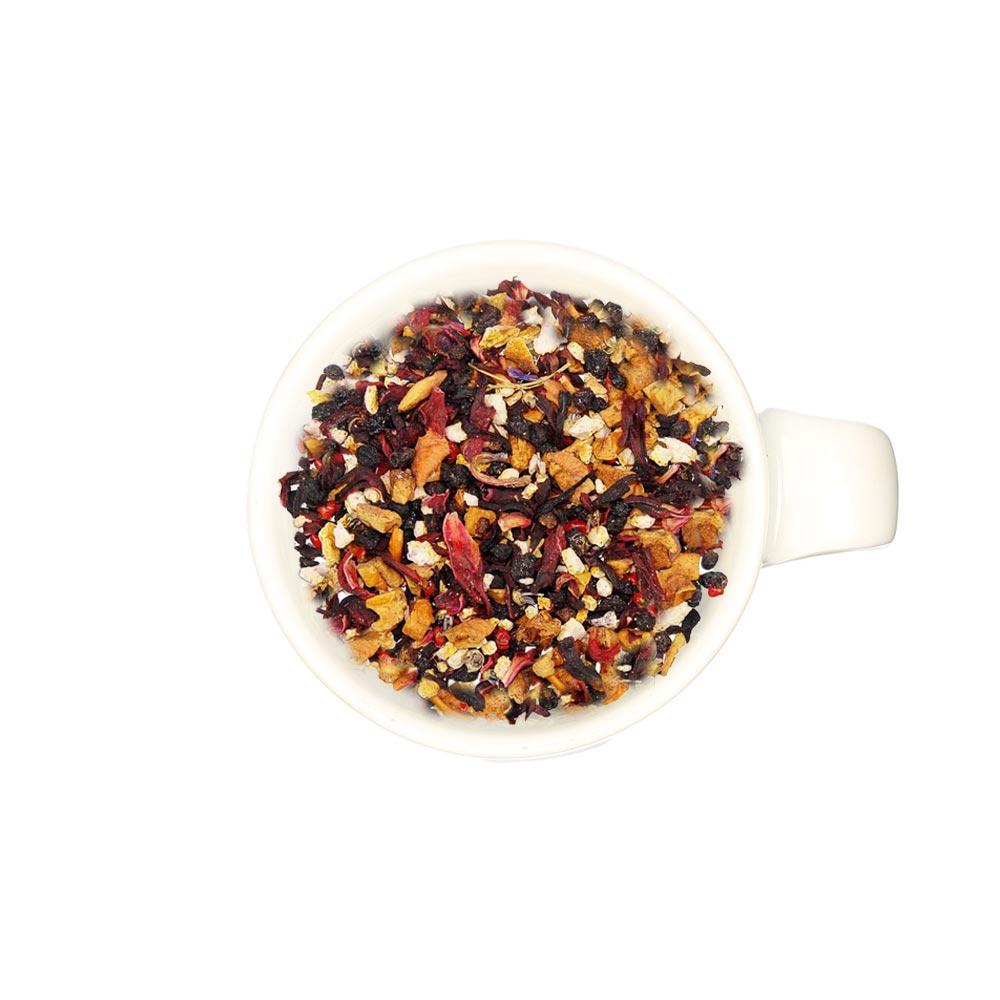 Aromatisierter Früchtetee mit Heidelbeer - Waldbeerengeschmack