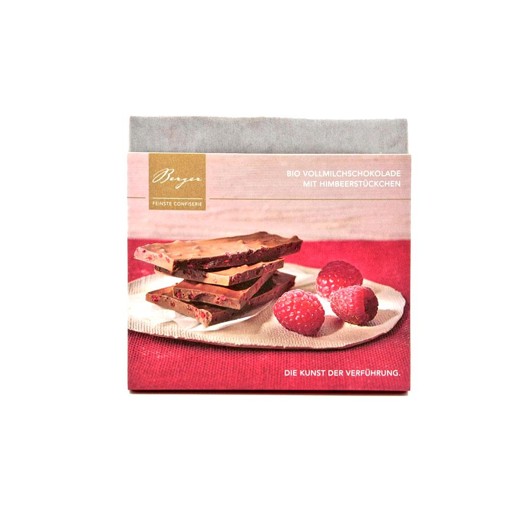 Vollmilchschokolade mit Himbeerstückchen, 90 g
