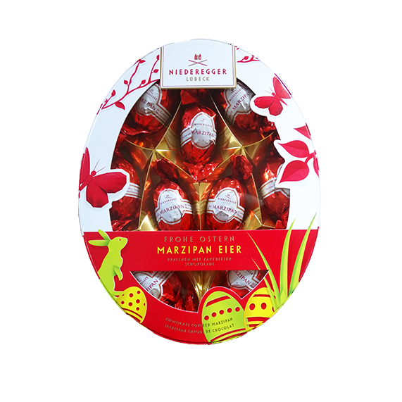 Niederegger Marzipan-Eier Geschenkbox oval, 150g