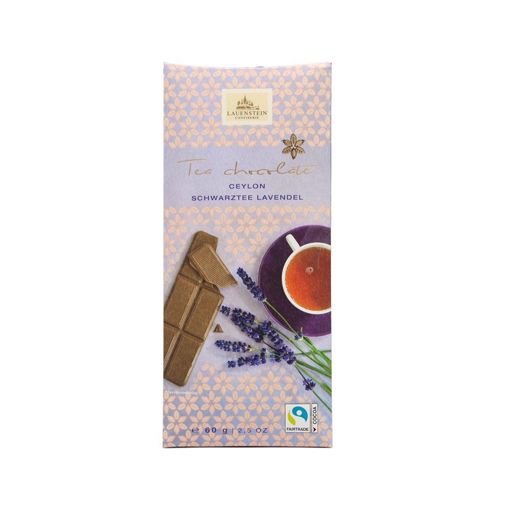 Lauenstein - Teeschokolade Ceylon Schwarztee Lavendel