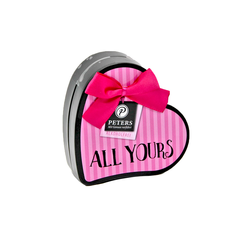 "All yours"" - Pralinen in Herzdose aus Metall, 50 g"